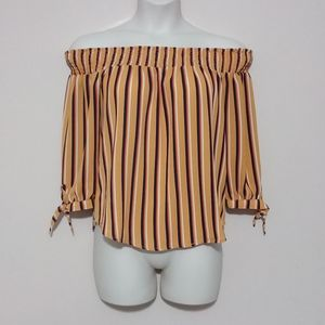 Rue 21 Off-the-Shoulder Striped Top